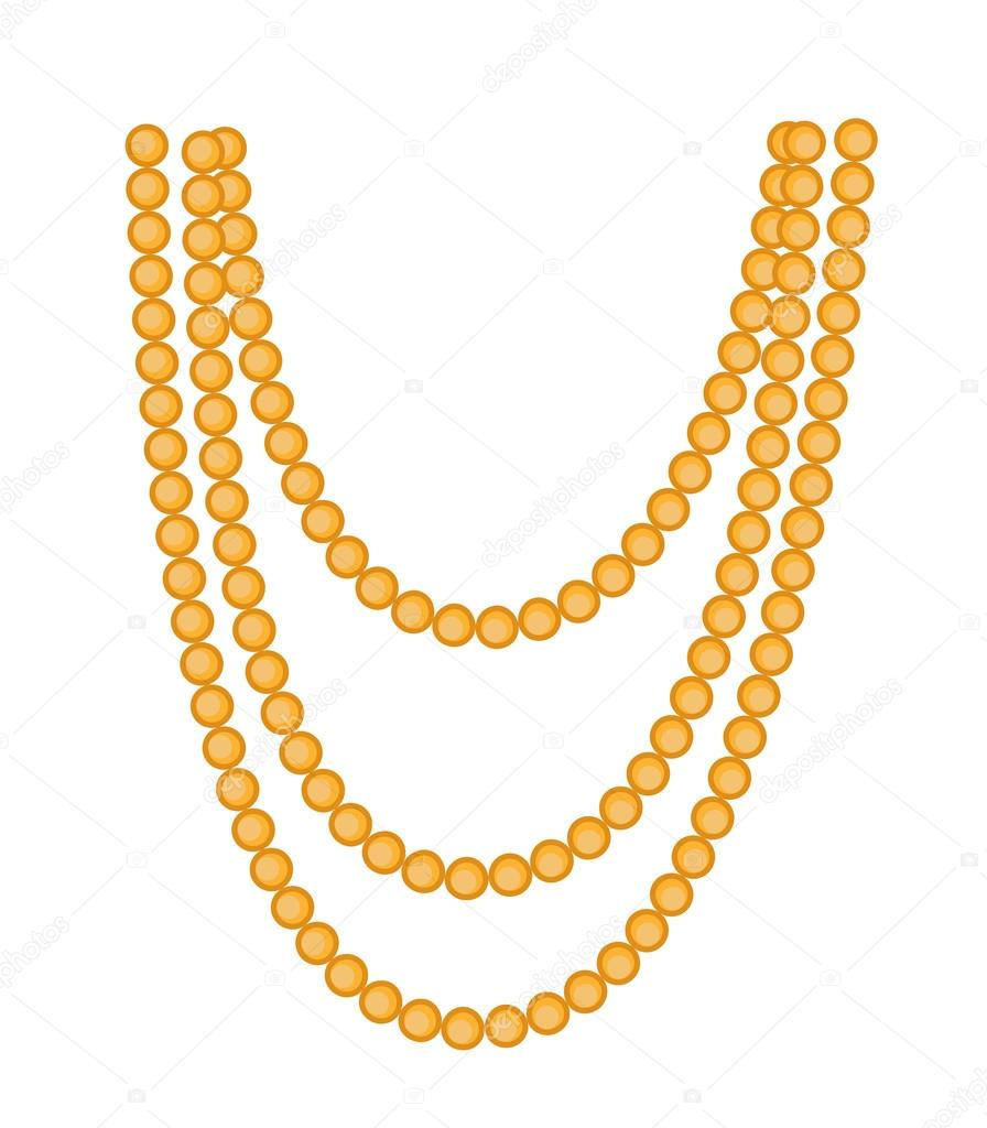 retro beads necklace clipart stock vector baavli 76713991 rh depositphotos com necklace clip art free necklace clipart