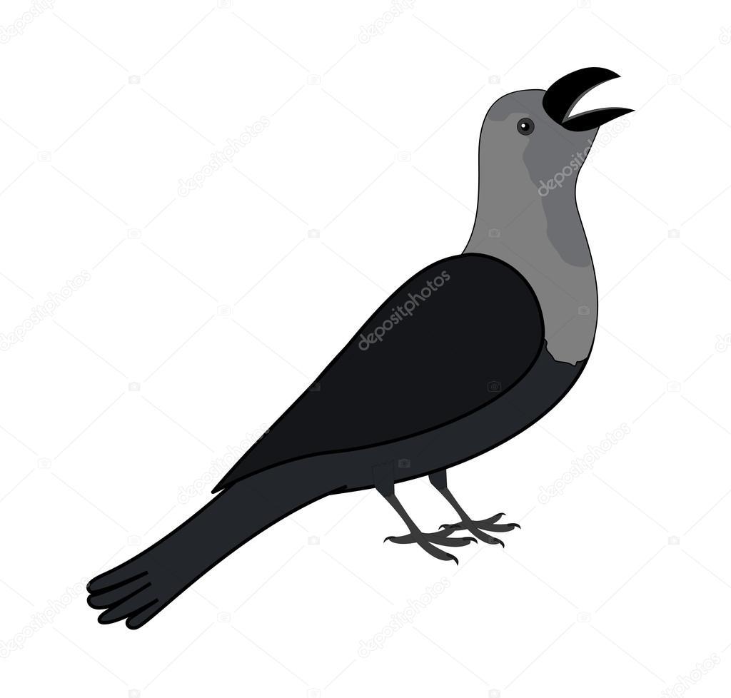 cartoon crow clipart stock vector baavli 76714323 rh depositphotos com crown clipart png crow clip art free