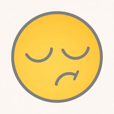 Displeasure - Cartoon Smiley Vector Face