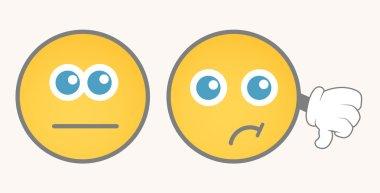 Unhappy Smiley Vector Set