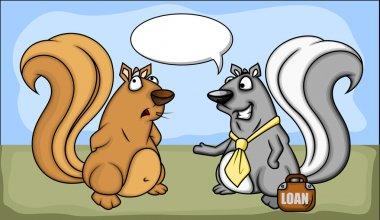 Business Dealing - Cartoon Squirrel