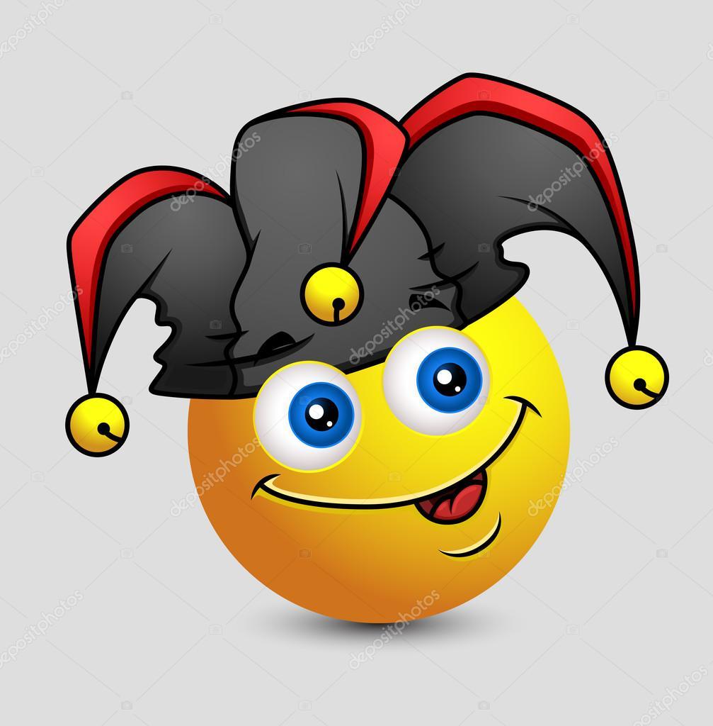 Emoticone Drole drôle comique bouffon emoji smiley emoticon — image vectorielle