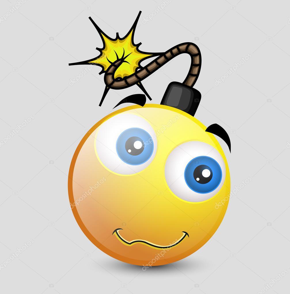 lustige komische bombe charakter stockvektor baavli 98045264. Black Bedroom Furniture Sets. Home Design Ideas