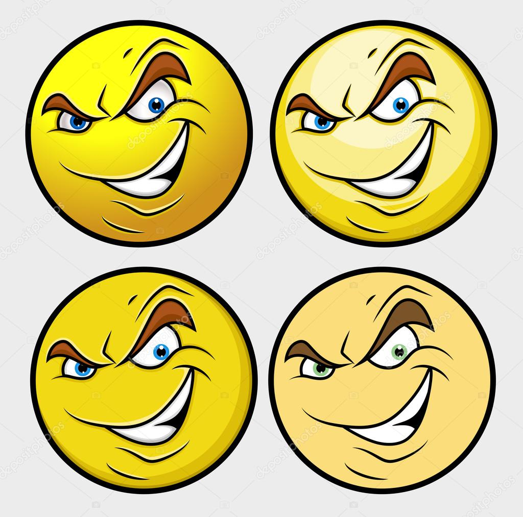 Evil Emoji Smiley Emoticon — Stock Vector © baavli #98057556