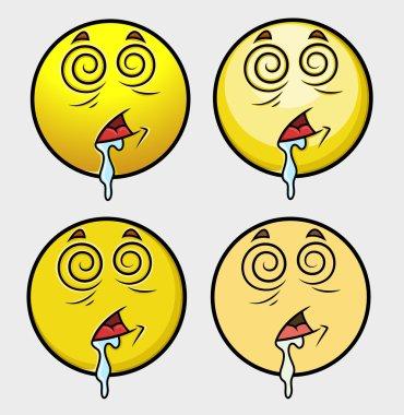 Hypnotized Emoticon Set