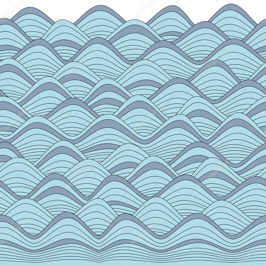 frontera de olas gráfico repetable, puede utilizarse para colorear ...