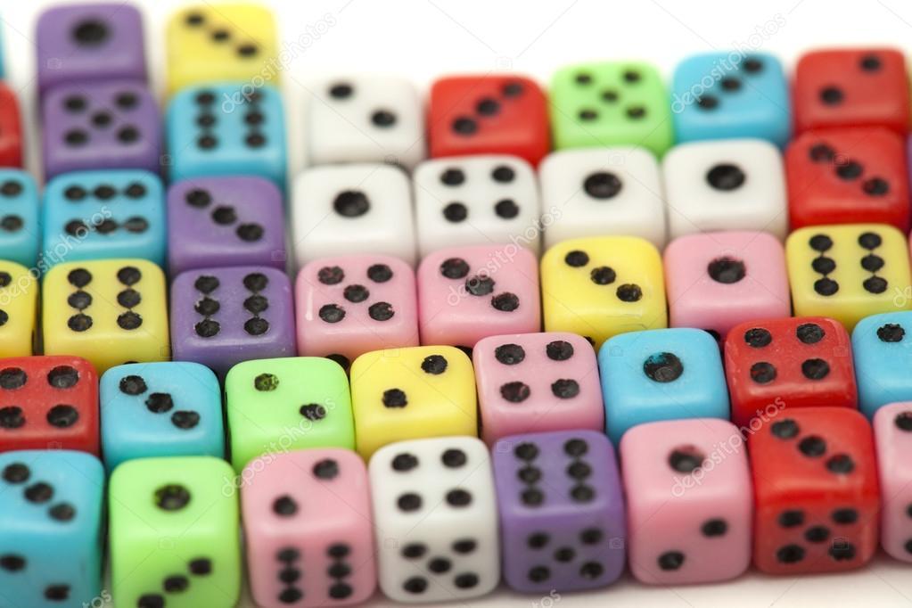 viele kleine Würfel — Stockfoto © Tamara_k #93359160