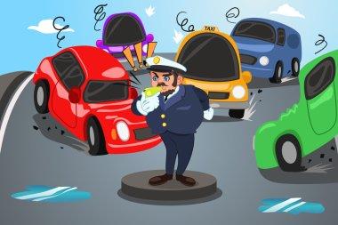 Policeman Direct Traffic