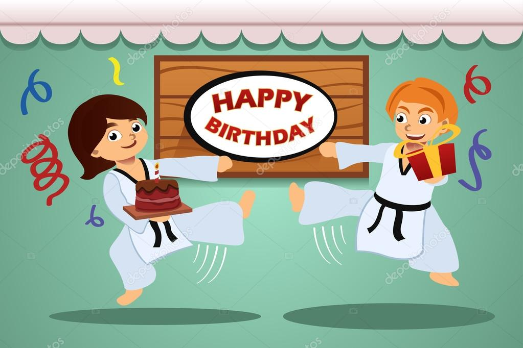 настолько с днем рождения каратист картинка друзья уже первый
