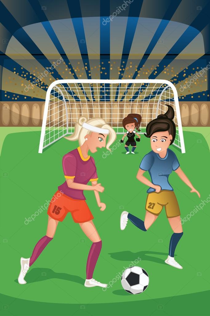 Fotos Chicas Jugando Futbol Mujeres Jugando Futbol En Un Partido