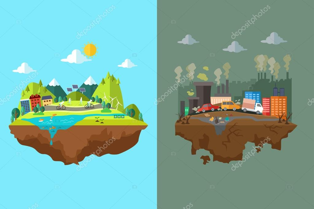 Comparison of Clean City and Polluted City
