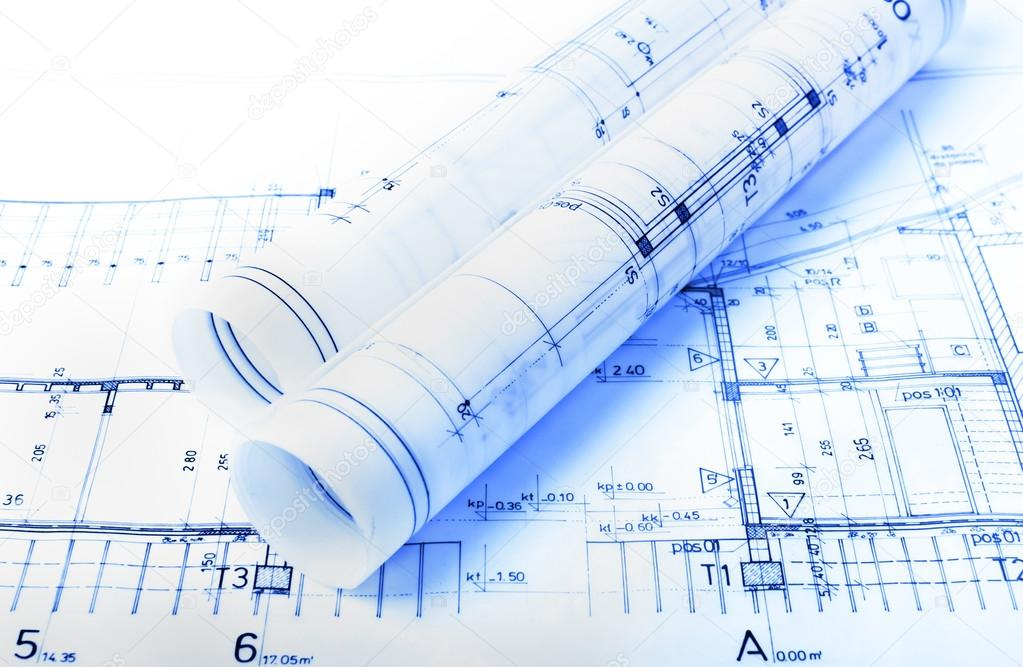 Architecture rolls architectural plans project architect blueprints architecture rolls architectural plans project architect blueprints real estate concept photo by vician malvernweather Image collections