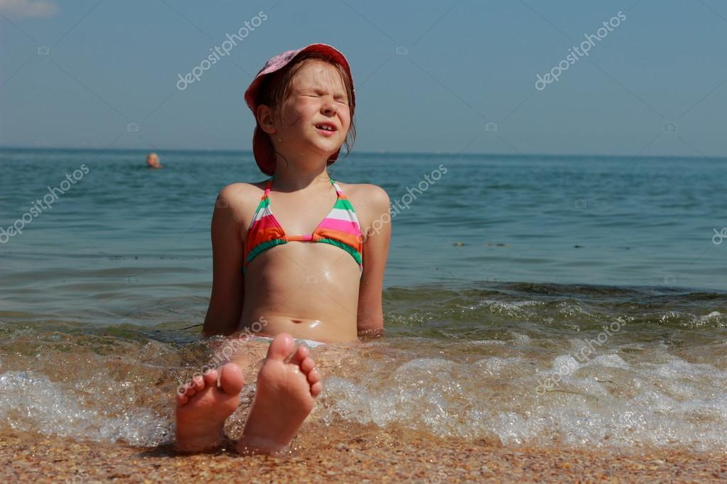 Kid's feet in the Black Sea