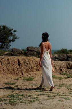 Woman in Greek style