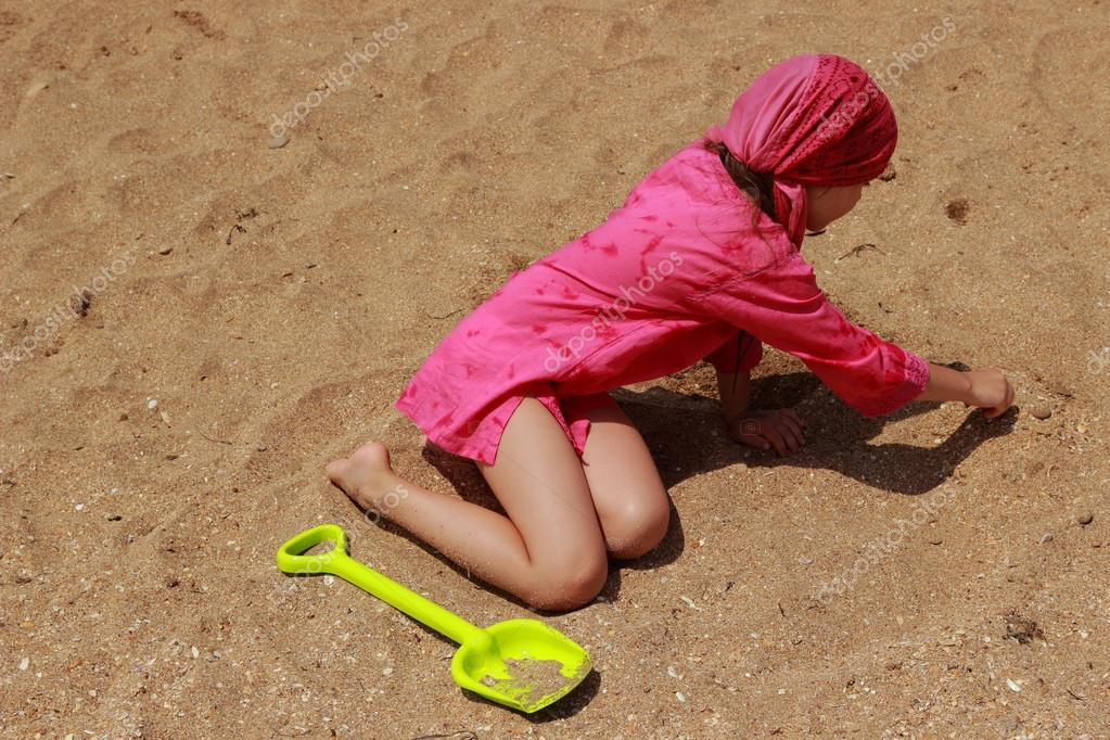 Funny kid outdoor