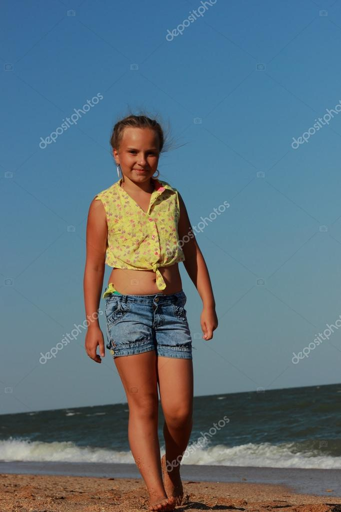 Young model posing on camera