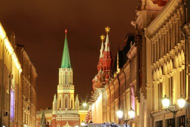 Christmas decoration in Moscow, Russia
