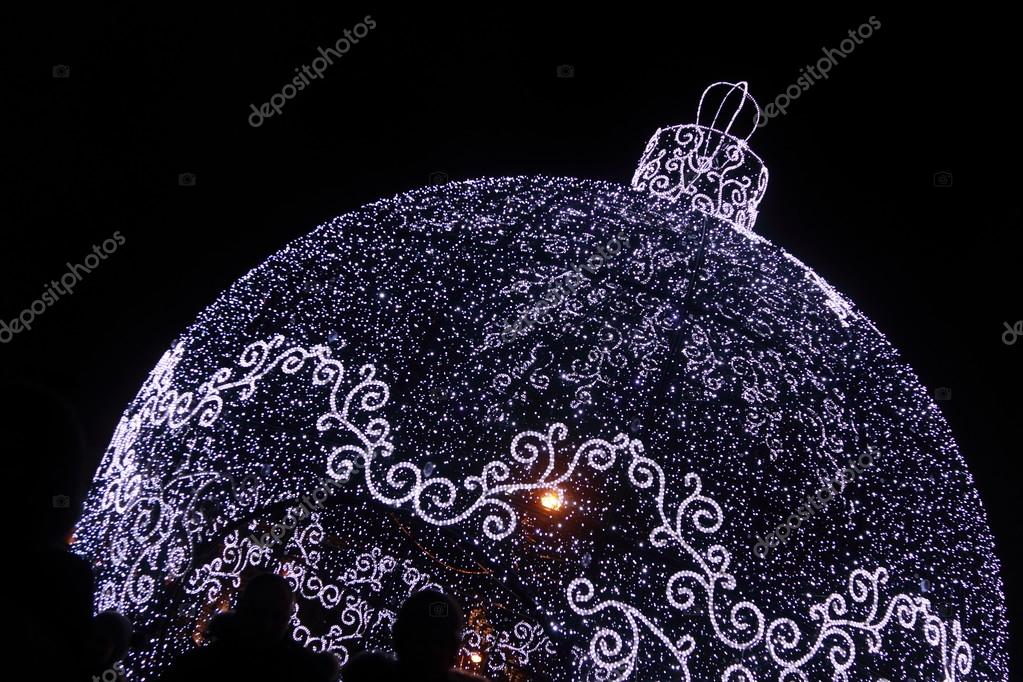 giant christmas tree decoration ball as new year holiday decoration at tverskaya street at moscow - Giant Christmas Tree