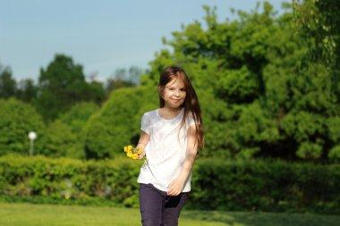 Attractive little girl outdoor