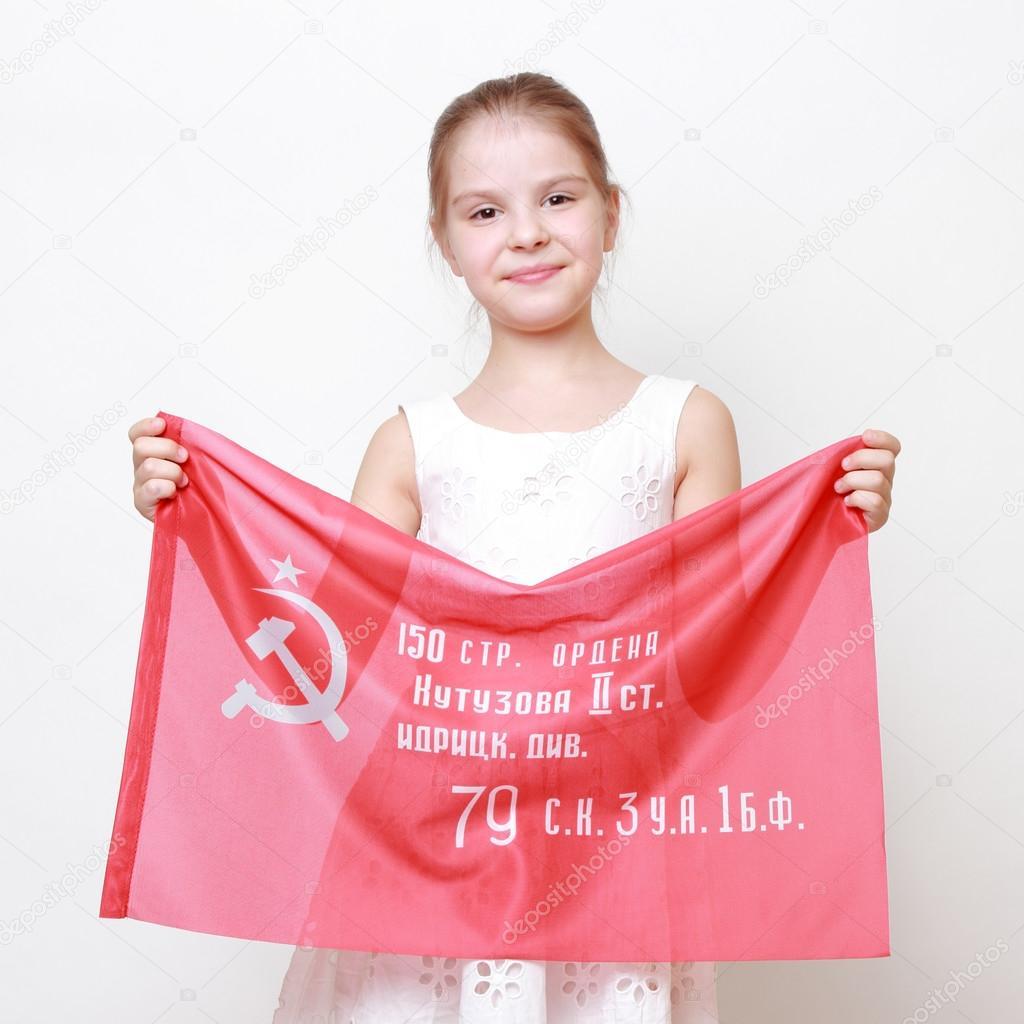 Niño patriótico — Fotos de Stock © Mari1Photo #78934392