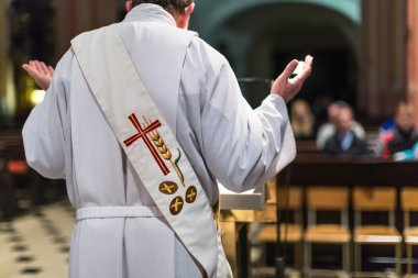 Priest during a ceremony, Mass