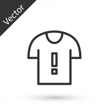 Grey line T-shirt protest icon isolated on white background.  Vector. icon