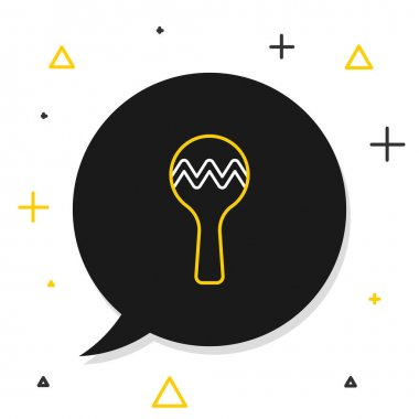 Line Maracas icon isolated on white background. Music maracas instrument mexico. Colorful outline concept. Vector