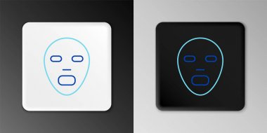 Line Facial cosmetic mask icon isolated on grey background. Cosmetology, medicine and health care. Colorful outline concept. Vector icon
