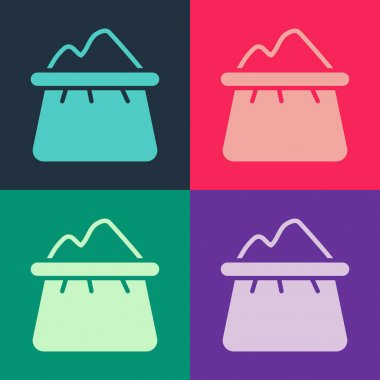 Pop art Bag of flour icon isolated on color background.  Vector icon