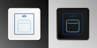 Line Battery in pack icon isolated on grey background. Lightning bolt symbol. Colorful outline concept. Vector icon
