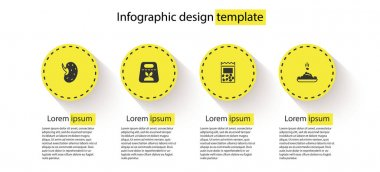 Set Seed, Pack full of seeds of plant,  and . Business infographic template. Vector icon