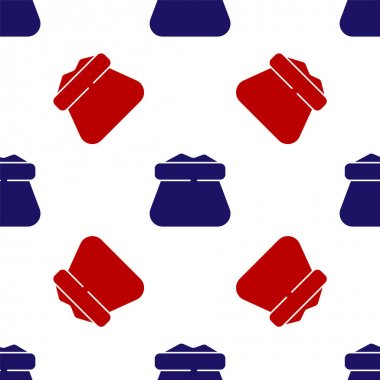 Blue and red Full sack icon isolated seamless pattern on white background. Vector. icon
