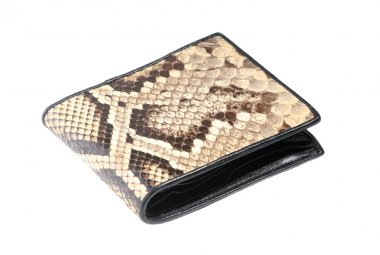 Python leather wallet - illegal endangered species product