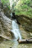 Photo Waterfall in wood.