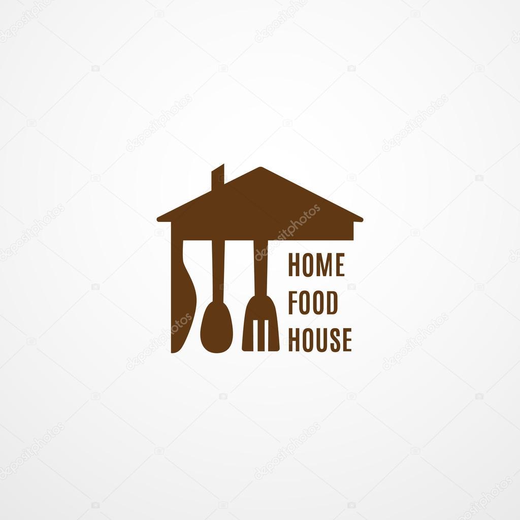 Food-Logo-Vorlage. Home Lebensmittel Haus-Logo. Bio-Lebensmittel ...