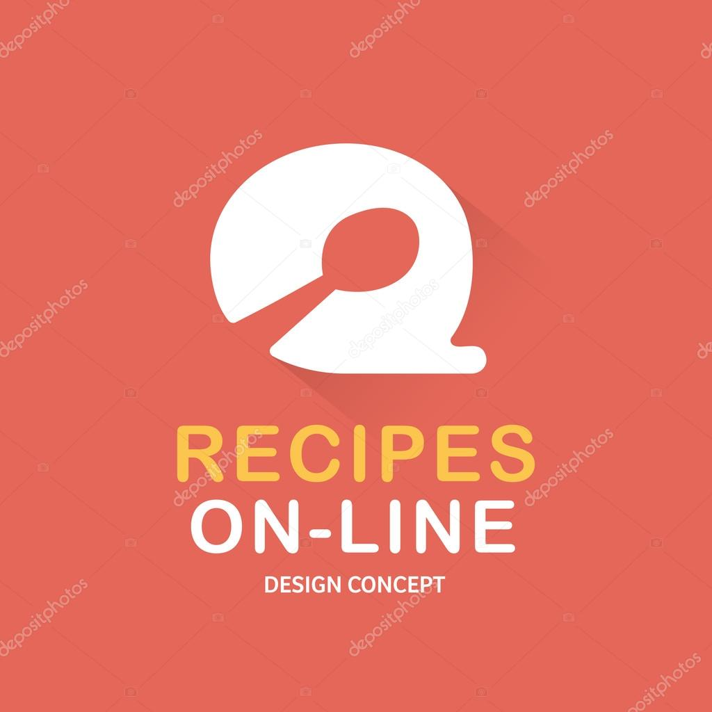 Recipes on line food logo cooking logo bubble vector logo recipes on line food logo cooking logo bubble vector logo template recipes on line food restaurant silhouette cooking logo icon template forumfinder Gallery