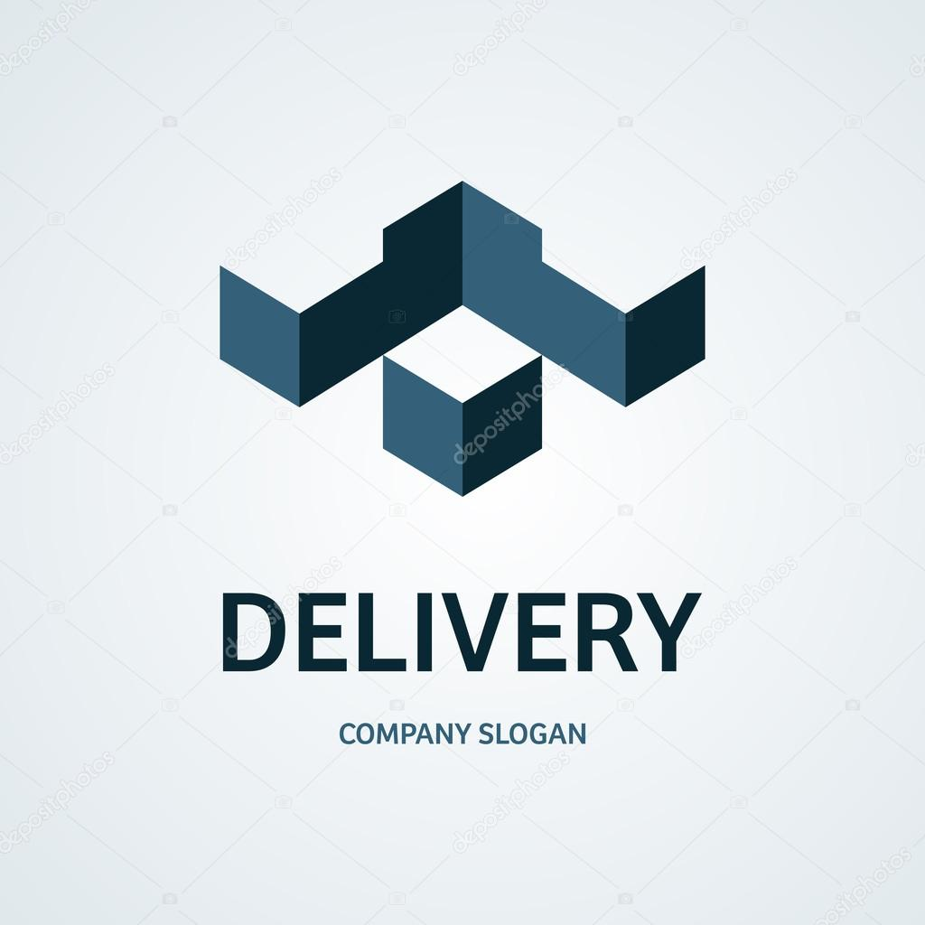 delivery container silhouette logo delivery logo container