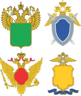 Russia emblematic and heraldic templates