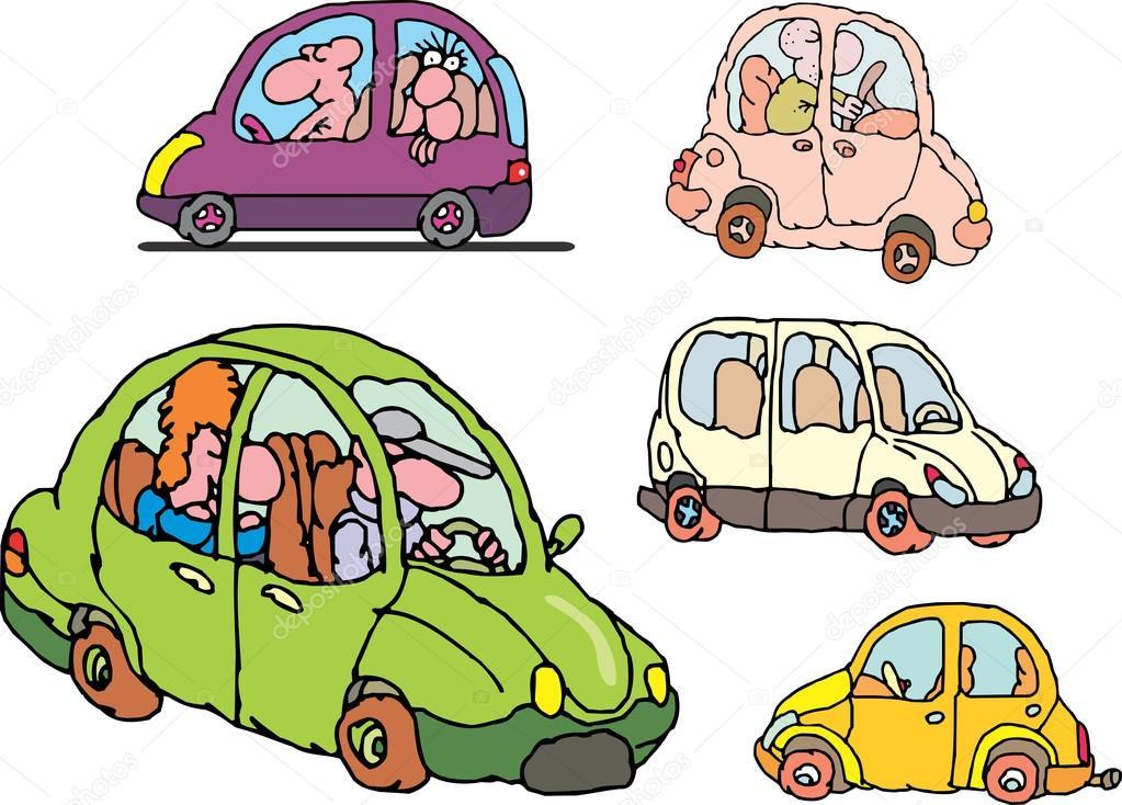 Aantal Komische Non Merk Familie Auto S Stockvector C Rorius