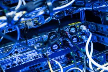 Backside of web servers in datacenter