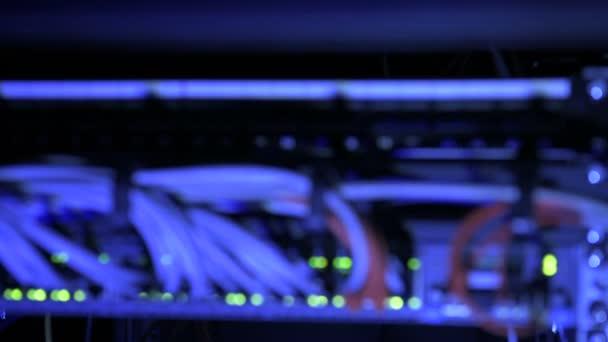 Rack fokussiert Internet-Router