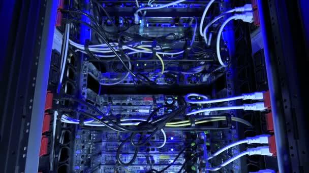 Blue lighting on internet servers