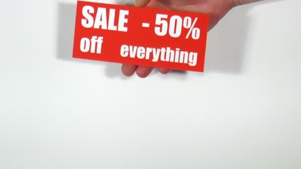 Price labels. Sale