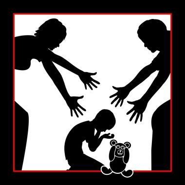 Parents comfort Child