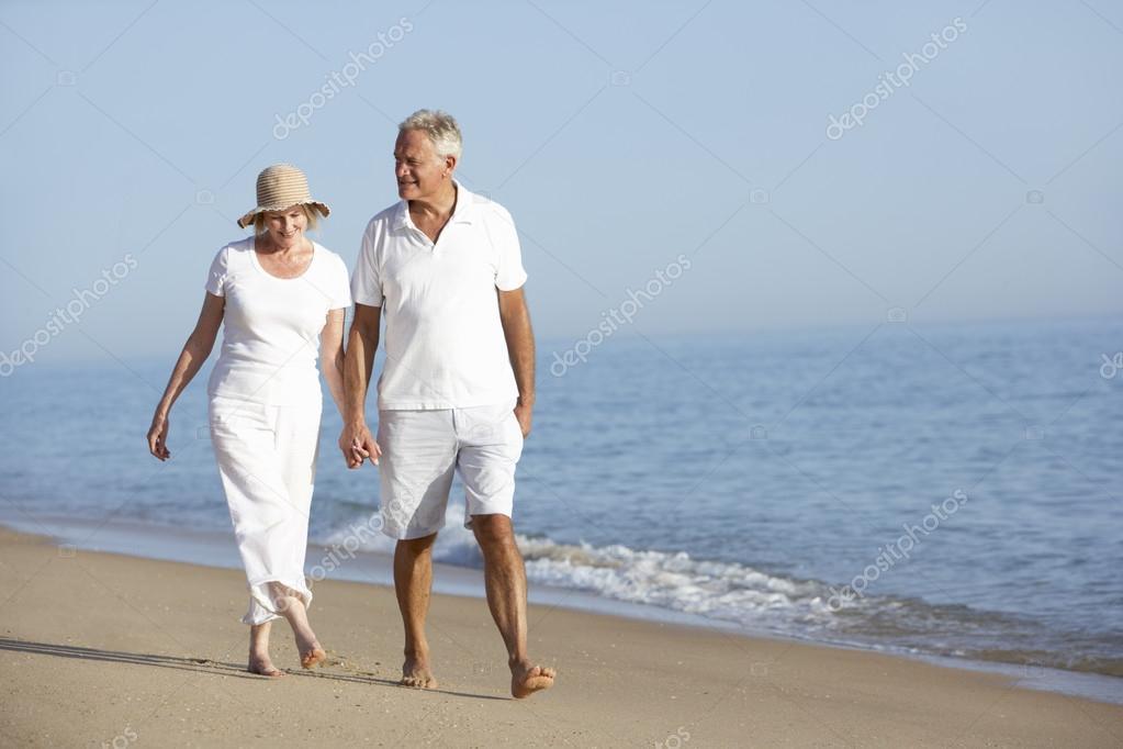 Paar genießen Älteres