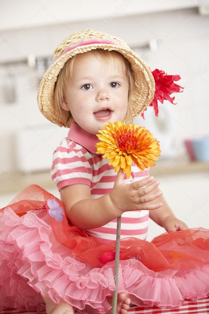 Girl Holding Flowers Royalty Free Stock Photos , #
