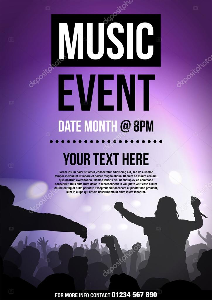 Template For Poster Advertising Music Event Vector Image By C Monkeybusiness Vector Stock 108378028