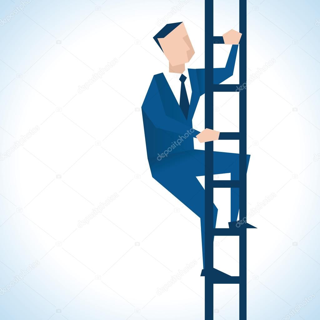 ビジネスマン出世階段を上る — ...