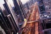 Fotografie Dubaje v čas západu slunce, Spojené arabské emiráty