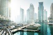 Fotografie Dubai Marina při západu slunce, Spojené arabské emiráty